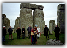 Guitar player at stonehenge